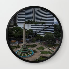 Plaza Altamira desde arriba Wall Clock