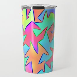 leaves in technicolour Travel Mug
