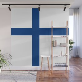 National flag of Finland Wall Mural