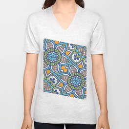 Mandala Geometrico Unisex V-Neck