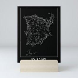 Ko Samui Black Map Mini Art Print