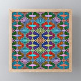 Pizza Party double rainbow gradient doodle Framed Mini Art Print