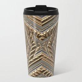 Shimmering Golden Ornamental Engraving Travel Mug