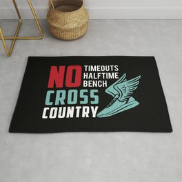 Cross Country Runner Cardio Fitness Running Cross-Country Racing Racer Gift Idea Rug