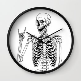 Rock and Roll Skeleton Wall Clock