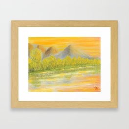 Sunset, an end for a new start Framed Art Print