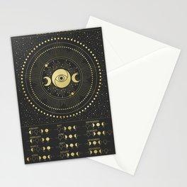 2020 Moon Calendar Stationery Cards