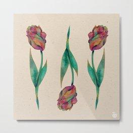 Rainbow Tulip Metal Print