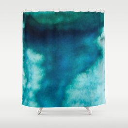 Blue Whirlwind Shower Curtain