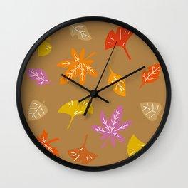 Autumn Leaves_A Wall Clock