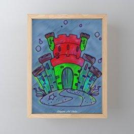 Mermaid Castle 21 Framed Mini Art Print