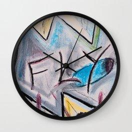Fly #1 #abstract #drawing #art #society6 Wall Clock