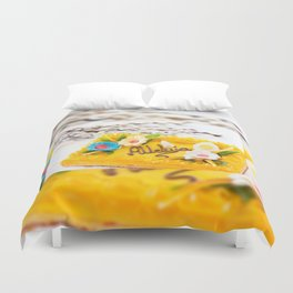 yellow decorative Easter cake Duvet Cover
