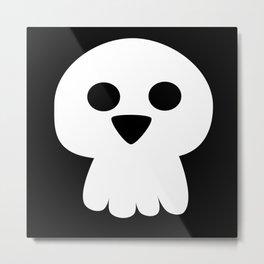Cute halloween skull Metal Print