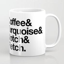 Coffee & Turquoise Coffee Mug