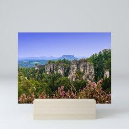 Elbsandstein Mountain Evening Mini Art Print