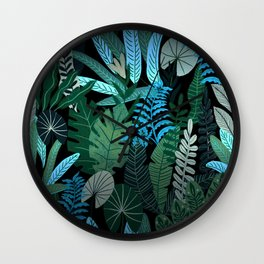 Eve's Paradise Tropical Garden Wall Clock