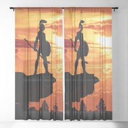 Spartan Warrior Cliff Sheer Curtain