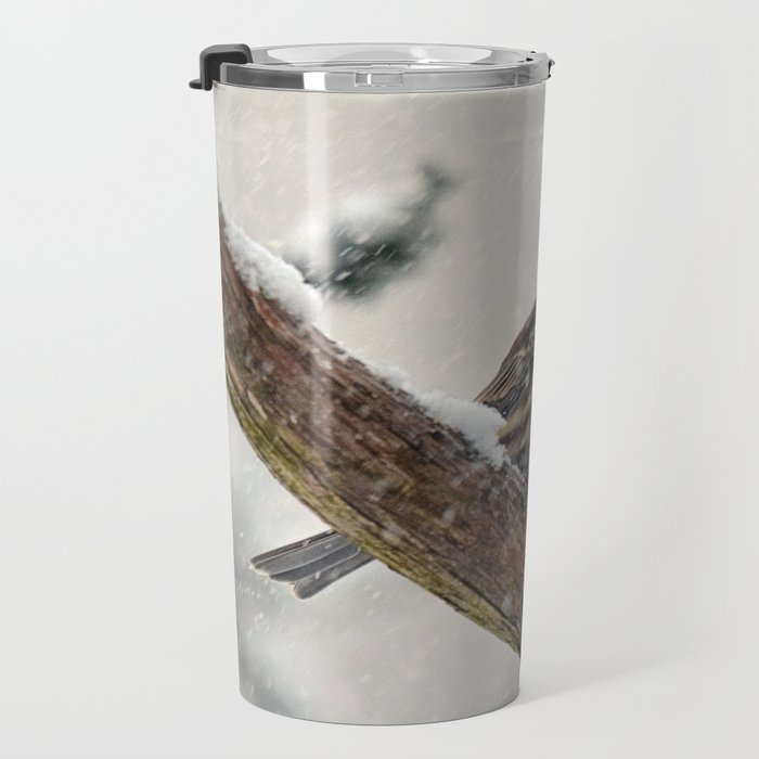 Facing the Storm (House Finch) Travel Mug