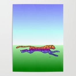 Steampunk Cheetah Poster