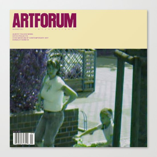 November 2012 Artforum Cover Canvas Print