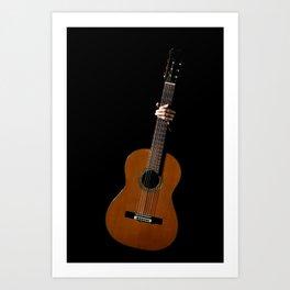 Flamenco Guitar Art Print