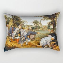 """Pieter Bruegel (also Brueghel or Breughel) the Elder """"The Blind Leading the Blind"""" Rectangular Pillow"""