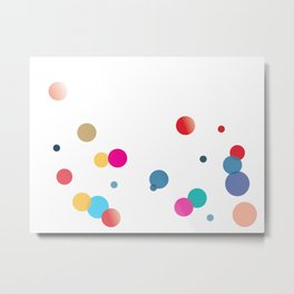 Beauty and the bubbles Metal Print