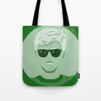breakfast club Tote Bags featuring The Breakfast Club - Brian by Priscila Floriano