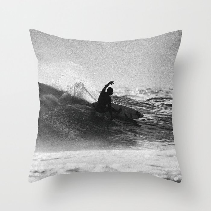 Iconic Indo Surfer Throw Pillow