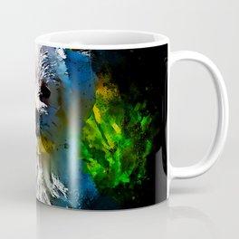 maltese dog splatter watercolor Coffee Mug