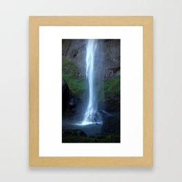 (#129) Mist on the Rock Framed Art Print