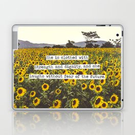 She is clothed with strength and dignity Laptop & iPad Skin
