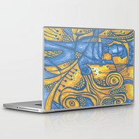 saxophone Laptop & iPad Skins featuring Saxophone by tempehmonster
