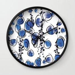 Blu Grapes Wall Clock
