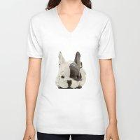 puppy V-neck T-shirts featuring puppy by Winnie draws