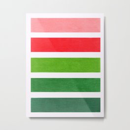Red & Green Geometric Pattern Metal Print
