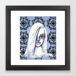 Daydreaming in Indigo Framed Art Print