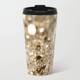 Champagne Gold Lady Glitter #1 #shiny #decor #art #society6 Travel Mug