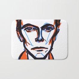 David Bowie Vibrant Orange Bath Mat