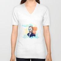 van gogh V-neck T-shirts featuring Van Gogh by Jon Cain
