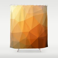 Shades Of Orange Triangle Abstract Shower Curtain