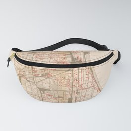 Map Of Chicago Gangs 1926 Fanny Pack