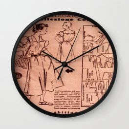 1950's vintage sewing pattern IV Wall Clock