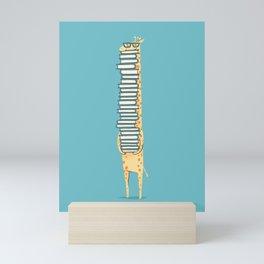 A Book Lover (blue) Mini Art Print