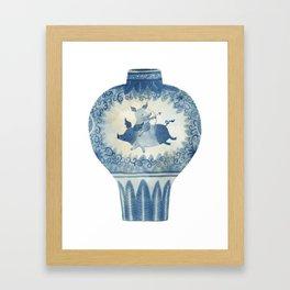 Pig Vase Framed Art Print