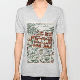 STANFORD CALIFORNIA University map Unisex V-Neck