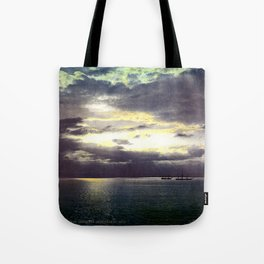 Vintage Sunset Waters : St Lawrence River 1901 Tote Bag