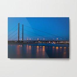 Düsseldorf night & light Metal Print