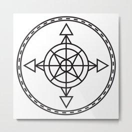 Compass 1 Metal Print